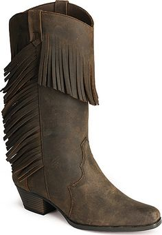Oak Tree Farms Oasis Fringed Boots. I die. Must have.