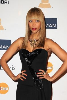Tyra Banks at the Pre Gala for the 55th Grammy awards