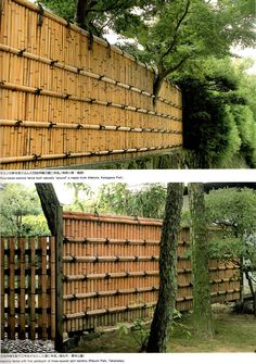 simple & solid bamboo fence