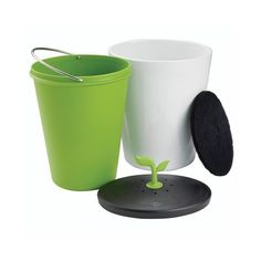Leftover foods, peels and food scraps are highly biodegradable, reusing them as compost is a good act of showing care to the environment and doing it will now be easy with the help of Chef'n EcoCrock Counter Compost Bin.