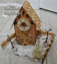 inkypinkycraft: Artful Dewllings die Gingerbread House http://inkypinkycraft.blogspot.co.uk/2013/09/run-run-as-fast-as-you-canyou-cant.html