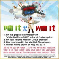 GAME - Pin It 2 Win It - Mischief Circus #MischiefCircus2016