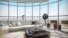 These first six penthouses are visualized by Ando Studio and are no short of amazing when you consider the detail and the imagination that go into each and ever