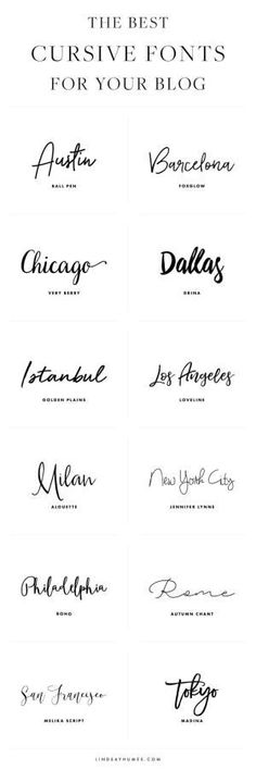The Best Cursive Fonts for Your Blog Design by velma