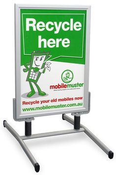Double-Side Poster Sandwich Board,Frame Poster Stand,Waterproof and Washable.Advertising Display Stand for Many Places Such As Bank Etc. Station A-Frame Sidewalk Sign Restaurant,/ Bar