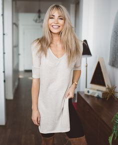 Cara Loren Shop Tiffany Tunic in Oatmeal