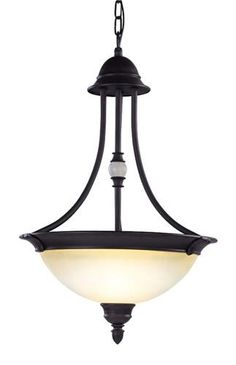 Belle Meade Chandelier (LVX-4374-07). Belle Meade - Chandelier - Bronze - 16 x 24 Product Specifications Fixture Type Chandelier Collection Belle Meade Finish Bronze Glass Scavo Art Dimensions 16 x 24 Wattage 3x60W Med Base Weight 12 Lbs.. See More Chandeliers at http://www.ourgreatshop.com/Chandeliers-C1008.aspx