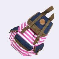 Canvas Backpack School Bag Super Cute Stripe for School Laptop Bag Waterproof