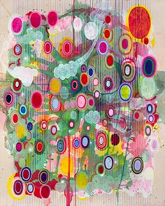 Colorful, abstract paintings of Savannah College of Art and Design (BFA) and Parsons School of Design (MFA) grad Jeff Lewis.
