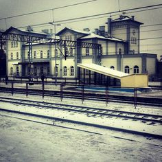"""jaroslawmarciuk: """" Station (at PKP Kutno) """" Loved that station when I was a kid. Train Station, Poland, Kid, Mansions, House Styles, Places, Child, Villas, Kids"""