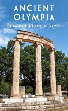 Greece Travel Inspiration - Visiting Ancient Olympia in in the Peloponnese Peninsula in Greece, home of the original Olympic Games which began back in 776 BC.