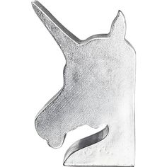 A perfect finishing touch for a girl's room..unicorn bookend set from CB2