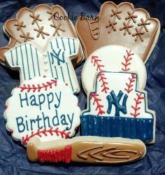 Yankees Birthday Cookie Arrangement