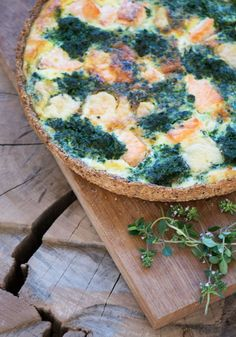 spinach and salmon quiche Tapas, Vegetarian Recipes, Healthy Recipes, Skinny Recipes, Healthy Food, Shellfish Recipes, Sandwiches, Food Crush, Recipes From Heaven