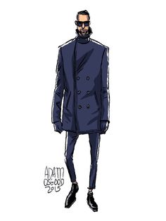 Adam Osgood Menswear Fashion Illustration Gif