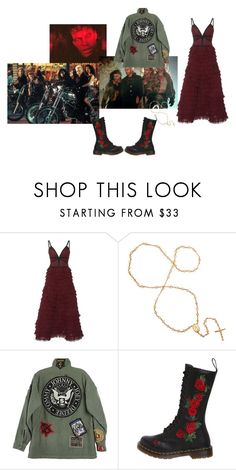 """""""The lost boys"""" by proserpinawitch ❤ liked on Polyvore featuring LALO, R13 and Dr. Martens"""
