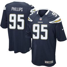 men nike san diego chargers 95 shaun phillips game navy blue team color nfl jersey