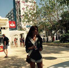 Mickelly looking beautiful in her Graceful Green Playsuit! (In beautiful Ibiza)