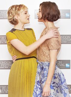 Keira Knightley and Carey Mulligan at the premiere of Never Let Me Go [x]