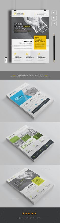 #Flyer #Bundle 3 in 1 - Corporate Flyers