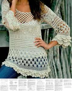 Perfect crochet pattern for making a boho tunic. Comes with detailed do-it-yourself PDF instructions and charts.