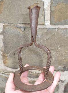 Early 18th Century Wrought Iron Irish Candleholder