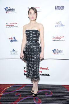 Emilia Clarke in Christian Dior - Actors Fund's Annual Gala honouring Robert De Niro