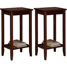 Getting these as night stands... finally something tall enough! Rosewood Coffee Brown Tall End Tables - Value Bundle