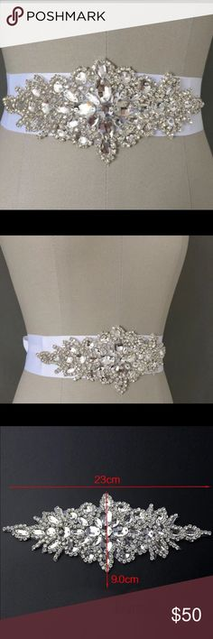 Bridal Belt Beautiful white bridal belt that can be added flair to any wedding or bridesmaid dress. Available in white only. Accessories Belts