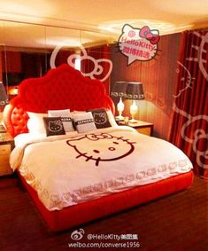 Hello Kitty Bed Room - pinned just for you @Gina Gab Solórzano Giampaolo Colosimo