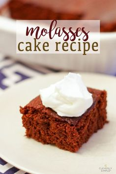 The best molasses cake that combines black coffee, pumpkin and molasses!  Its outrageously moist, it's dense and it has the perfect blend of sweet and spice. Delicious Cake Recipes, Easy Cake Recipes, Yummy Cakes, Baking Recipes, Dessert Recipes, Pie Recipes, Molasses Cake, Molasses Recipes, Vanilla