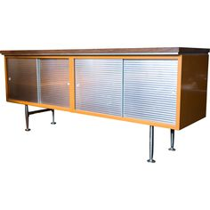 Mid Century Metal Credenza for Home or Office from Rare Door on Ruby Lane