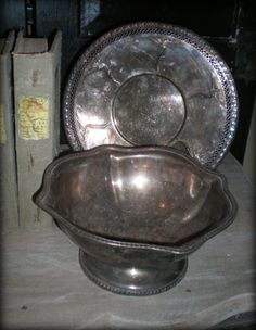 Silver and silver plate with an old patina--my favorite look in decor
