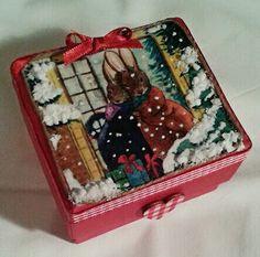 Christmas gift box #homemade #christmas