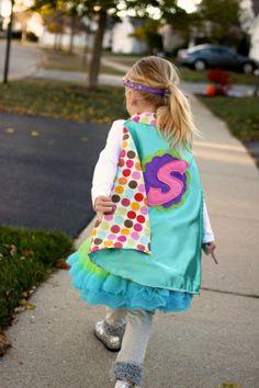 Adorable superhero costume for a young girl | Peanut Blossom