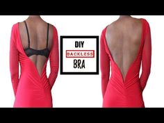 f5941c9ca3 How To Make A Backless Bra (For All Boob Sizes!) - YouTube Diy