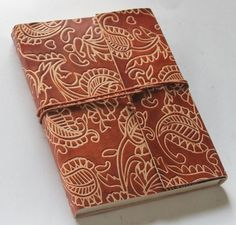 Brown Genuine Leather Covered Journal - Diary - Handmade - Acid Free Classic New