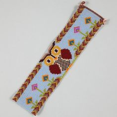 Woodland hibou Bracelet Perle en Loom Motif OOAK par PuebloAndCo