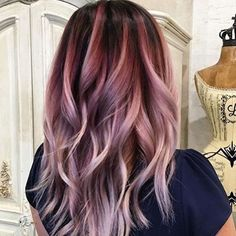 light grape and creamy plum hair color - HAARFARBEN - Cheveux Gold Hair Colors, Hair Color Pink, Hair Color And Cut, Purple Hair, Pastel Hair, Burgundy Hair Ombre, Rose Gold Hair Brunette, Violet Hair, Red Ombre