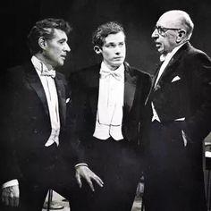 Leonard Bernstein, Glenn Gould, Igor Stravinsky