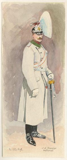 "Germany; 2nd Bavarian Uhlans ""König"", Major c.1809. raised 1863. Home Depot Ansbach. 4th Cavalry Brigade, II Royal Bavarian Corps."