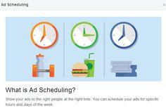 Wybierz godzinę, w której Twoje reklamy na Facebooku będą działać.       #facebook #reklama #menedzerareklam