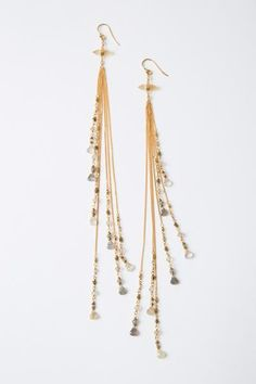 Vita Fede Luna Chain Thread Drop Earrings Elfbg6c