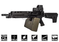 Krytac Full Metal Trident LMG Enhanced KeyMod Edition AEG Airsoft Gun