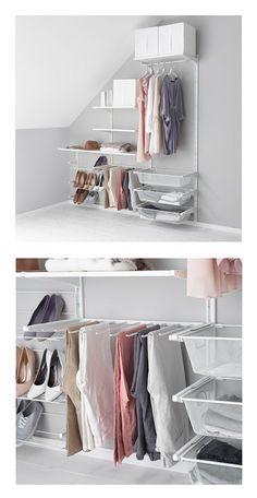 Ideas Walk In Closet Ikea Algot Storage Systems
