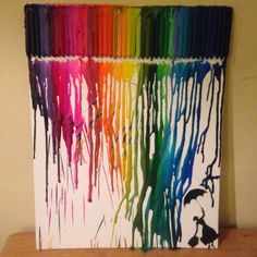 Melted crayon art with a Disney twist! Melted crayon art with a Disney twist! Art Pop, Fun Crafts, Crafts For Kids, Paper Crafts, What Is Balayage Hair, Fantasy Magic, Crayon Art, Crayon Ideas, Disney Diy