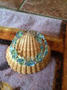Stunning double strand czech glass bracelet in by RealBeadDesigns
