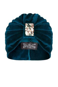 Teal Coloured Velvet Turban with Jewel by TheFHBoutique on Etsy, £25.00