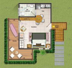 34 mts wohnen pinterest einzimmerwohnung grundrisse for 15m2 zimmer einrichten