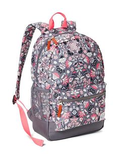 3b0b2a8f3204 Patterned Canvas Backpack for Girls Girl Backpacks